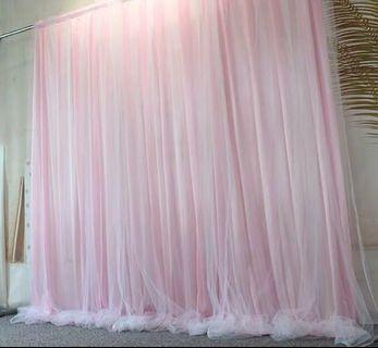 Rental pink tutu backdrop curtains