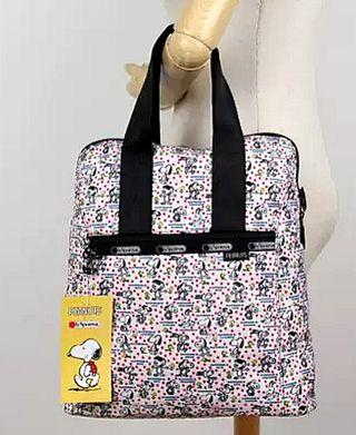Lesportsac Everyday Backpack - Snoopy Happiness Dots