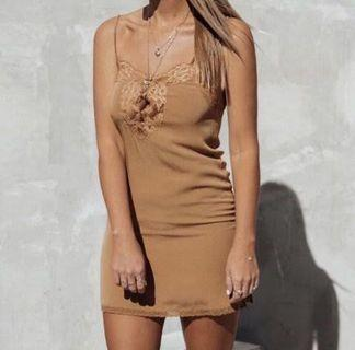 Spell and the Gypsy slip dress in Camel