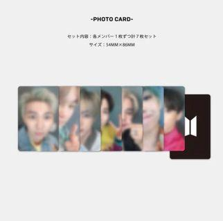 ✨ [SHARING] bts boy with luv japan fc photocards