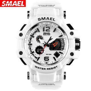 SMAEL Original Waterproof LED Digital Watch Display Date and Week Sport Watch