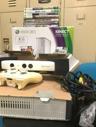 Xbox 360 Kinect 包7隻game