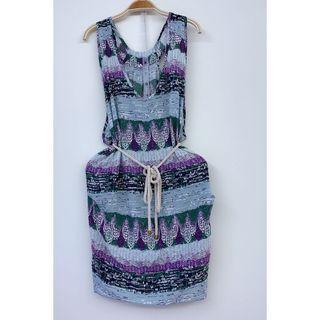 🚚 <正韓>挖背設計附腰帶的度假洋裝