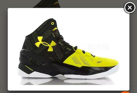 🚚 Under Armour Curry 2 Yellow Basketball shoes