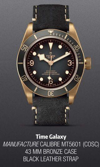 Brand New TUDOR Heritage Black Bay Bronze Grey Dial 43mm