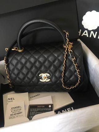 全新 Chanel Coco Handle 28 黑金