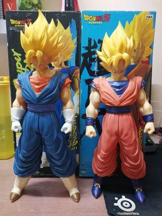 Dragon Ball Large Size Figure Ssj Goku & SSJ Vegito
