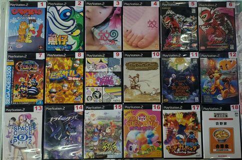 二手PS2遊戲NTSC-J (#Part:3) (#詳細價錢請參考內文)