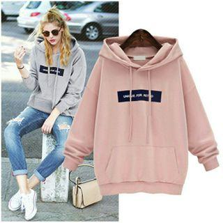 Pink Hoodie warm sweater pullover long sleeve