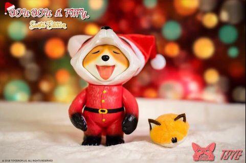 全新未開 Toyzeroplus Dou Dou - Santa Edition 荳荳 - 聖誕限定 Sofubi Vinyl
