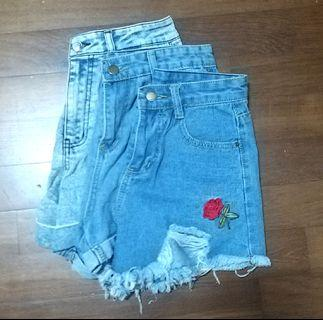 Highwaisted Denim Shorts Sale