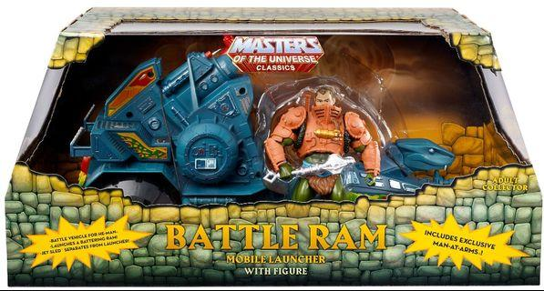 MATTEL MOTU MASTERS OF THE UNIVERSE CLASSICS BATTLE RAM with MAN-AT-ARMS (Stock-In-Hand)