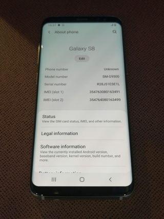 SAMSUNG S8 64GB Sliver Dual Sim 99%New