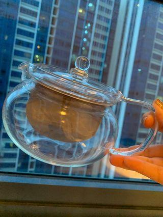 Hario cha cha kyusu maru teapot set muji saucer muji teacup