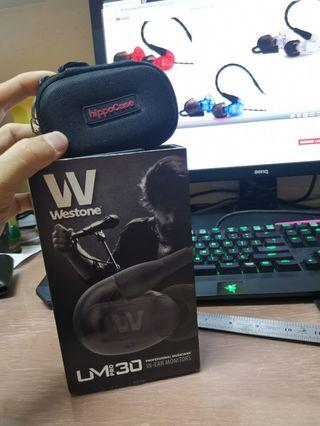 Westone UM PRO 30 IEM In Ear Monitor Earphones