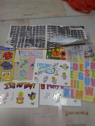 Stickers and cuts