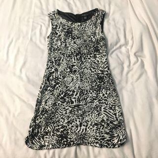 Mango MNG Black & Grey Animal Print Dress