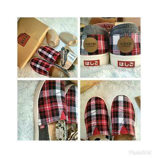 [FREE ONGKIR] Sepatu Wakai Hashigo Plaid