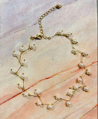B014 金色氣質鎖骨鏈