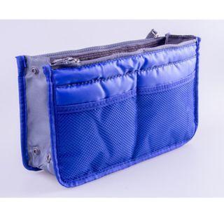 Bag Insert Travel Royal Blue Handbag Organiser with Handles