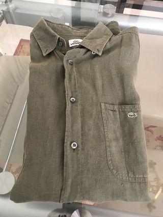 Authentic Lacoste linen shirt