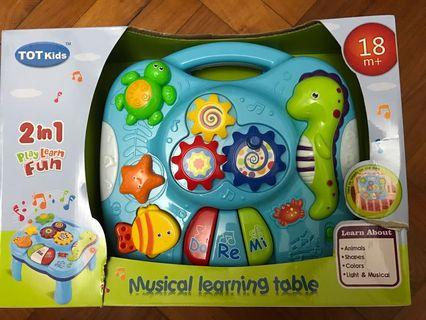 Musical learning table
