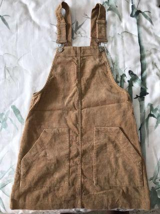 bn bershka corduroy overall dress
