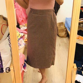 🚚 細格子鉛筆裙
