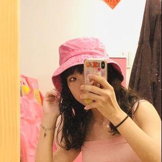 🚚 古著粉紅漁夫帽