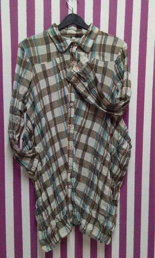 Asymmetrical long shirt #JuneToGo