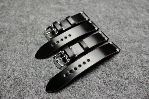 Horween Shell Cordovan Black Watch Strap