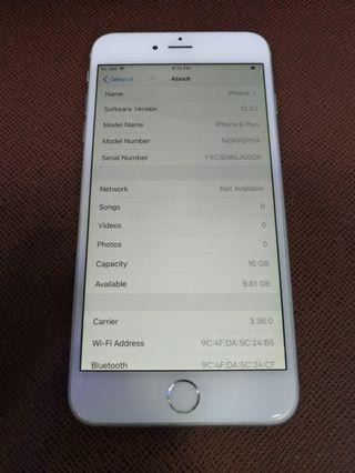 iPhone 6 Plus 16GB 97%New Sliver