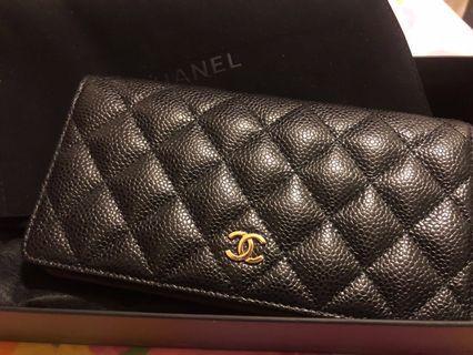 Chanel classic long flap wallet