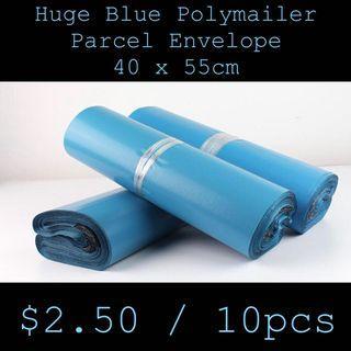 Brand New Huge 40 x 55cm Blue Polymailer Parcel Envelope