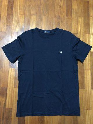 Fred Perry Navy Basic Small Logo Tee