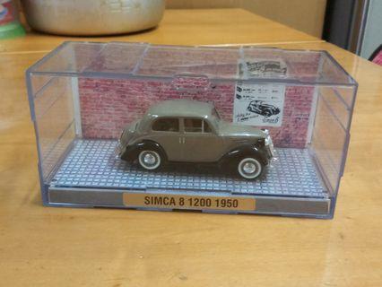 古董車 SIMCA 8 1200,  1950年,1:43