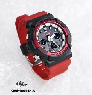 Latest Release Black Red GAS100 Tough Solar Casio Gshock Unisex with FREE DELIVERY 📦