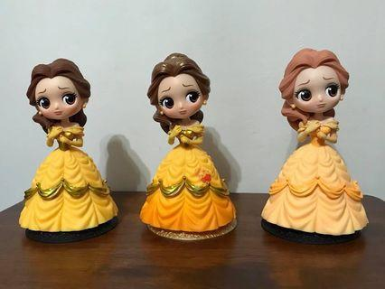 Disney Princess Q Posket Figure Beauty and the Beast Display Toy Figurine