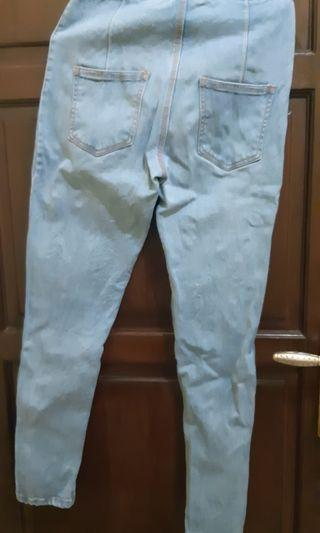 jeans highwaist stradivarius