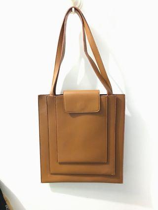 Ats the Label Brown Faux Leather Bag