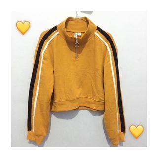 Sweater sweatshirt H&M zipper crop