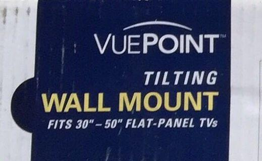 "Vuepoint Tilting Wall Mount FPM50b-07 Fit 30-50"" Flat Panel TV"