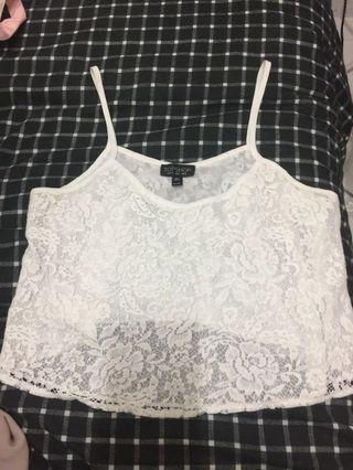 🚚 White Lace Crop Top