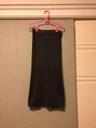 針織開叉長裙