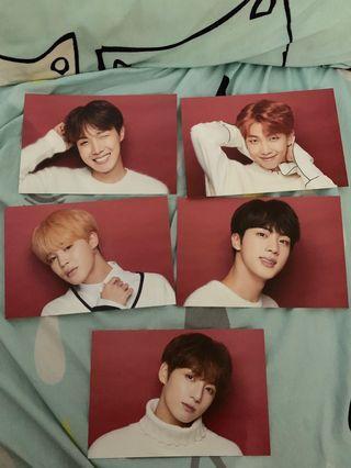 BTS 澀谷109聖誕節限定postcard