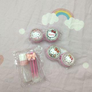 Hello Kitty鑽鑽隱眼水盒組