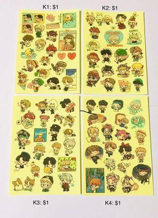 Exo Baekhyun/ Chen/ Xiumin/ Sehun/ D.O Fanart Stickers Part 2