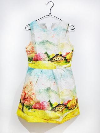Dress Gaun Pesta Motif