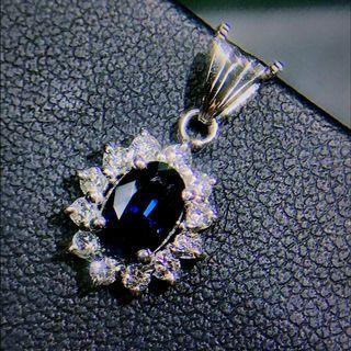 皇家藍玻璃體藍寶石項鍊