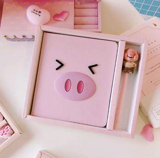 🚚 Cute Pig Design Notebook with Pen